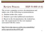 review process hsp n 000 4 6