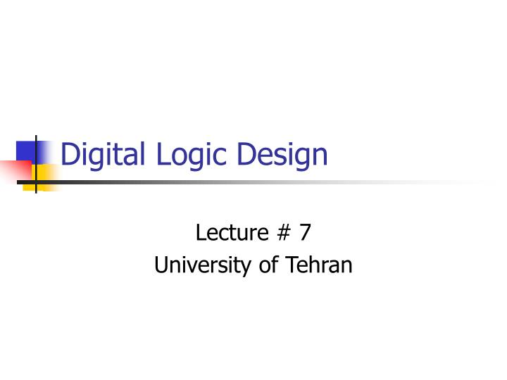 digital logic design n.