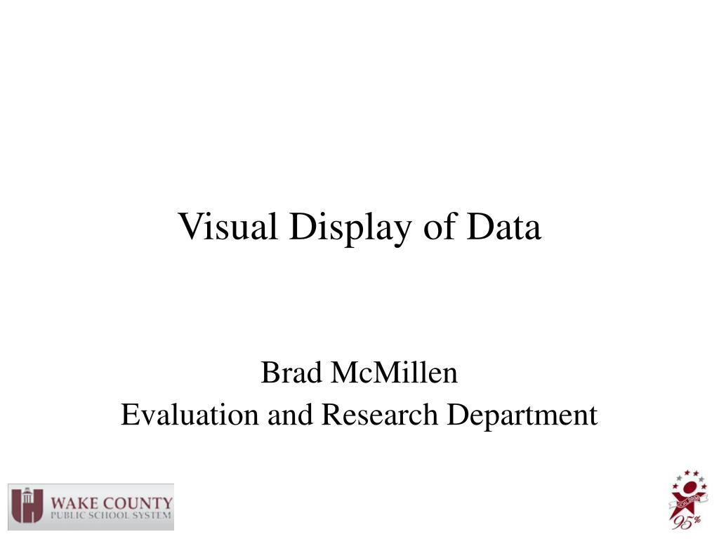 visual display of data l.