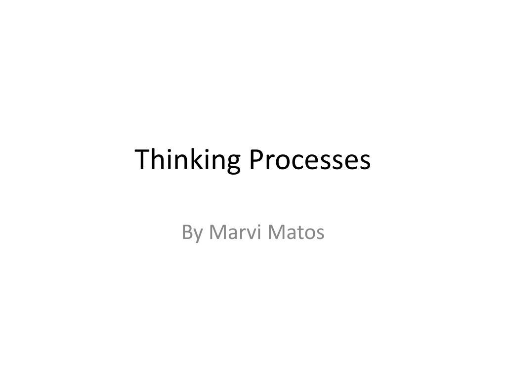 thinking processes l.