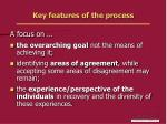 key features of the process