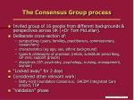 the consensus group process