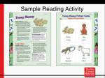 sample reading activity