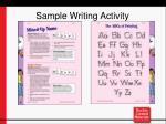 sample writing activity