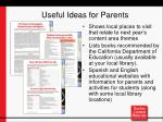 useful ideas for parents