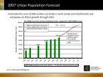 2007 urban population forecast