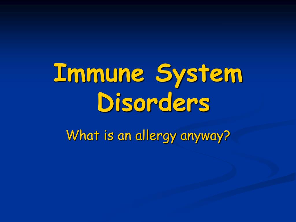 immune system disorders l.