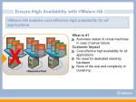 ensure high availability with vmware ha