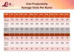 visit productivity average visits per nurse