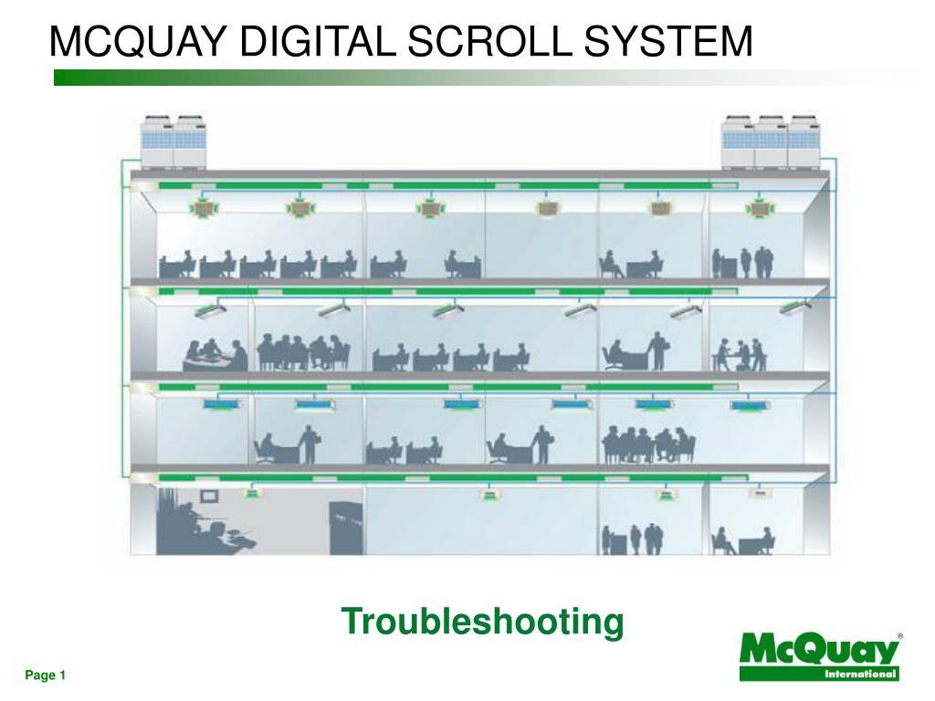 mcquay digital scroll system l.