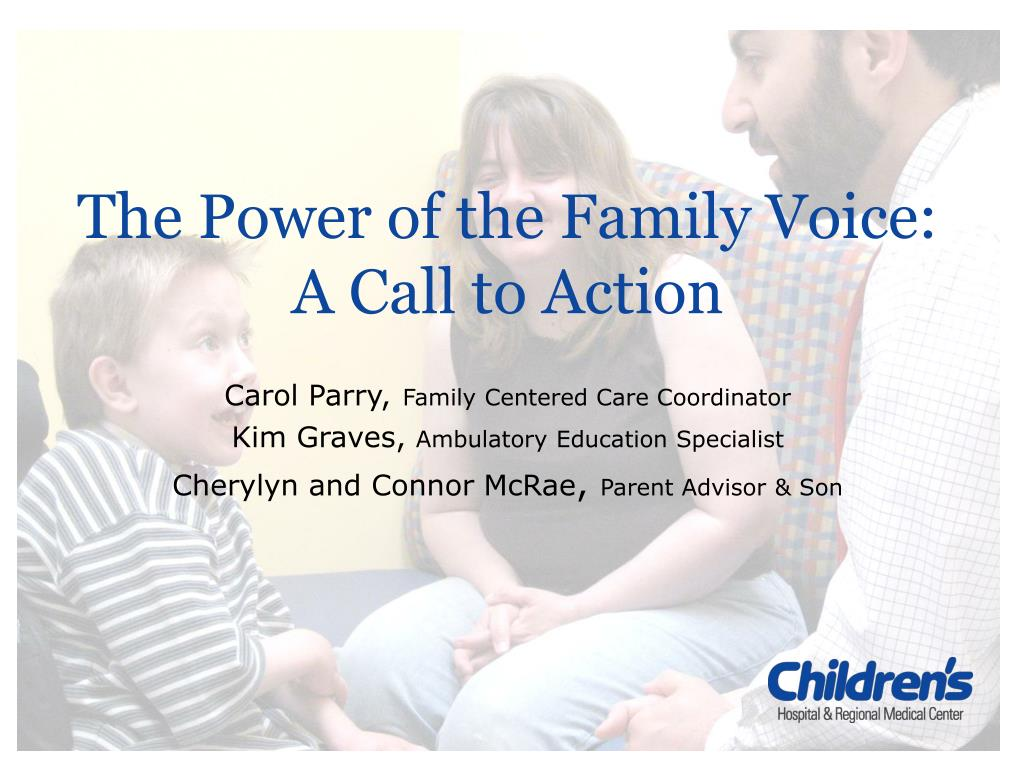 the power of the family voice a call to action l.