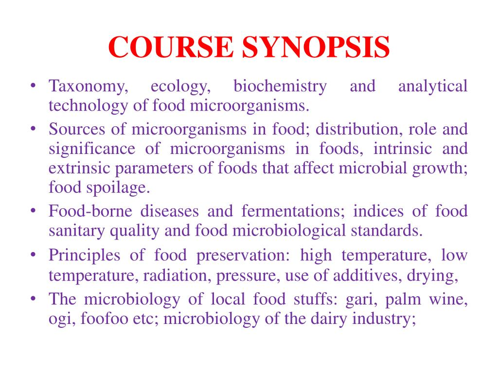 course synopsis l.