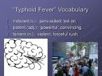 typhoid fever vocabulary5