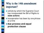 why is the 14th amendment important