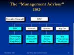 the management advisor iso