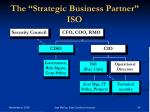the strategic business partner iso