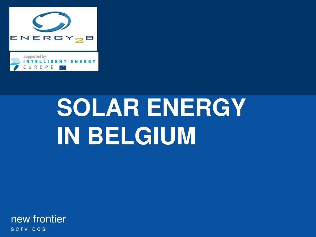 solar energy in belgium l.
