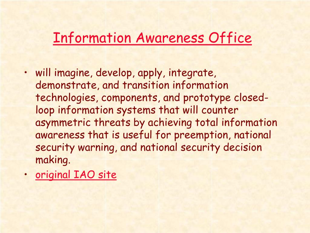 Information Awareness Office