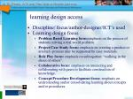 learning design access