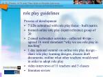 role play guidelines
