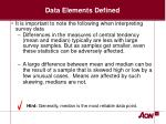 data elements defined12