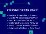 integrated planning session