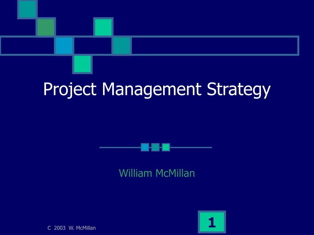 project management strategy l.