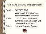 homeland security or big brother