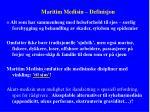 maritim medisin definisjon