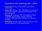 skandinaviske doktorgrader i mm