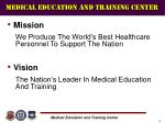 medical education and training center