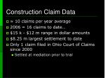 construction claim data