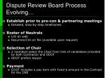 dispute review board process evolving