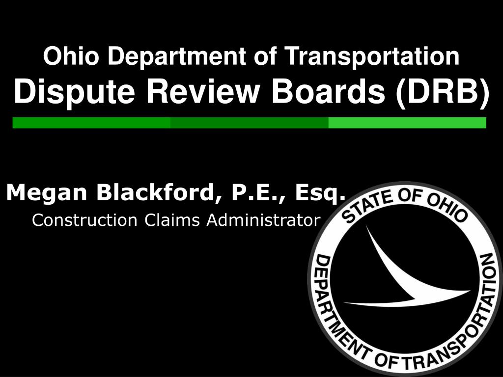 ohio department of transportation dispute review boards drb l.