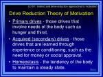 drive reduction theory of motivation6