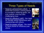 three types of needs