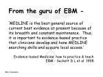 from the guru of ebm