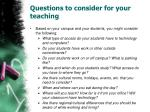 questions to consider for your teaching