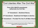 civil liberties after the civil war