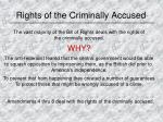 rights of the criminally accused