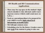 hs health and hs communications applications41