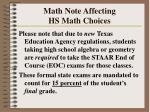 math note affecting hs math choices32
