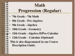 math progression regular