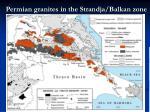 permian granites in the strandja balkan zone