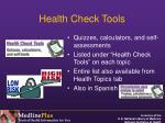 health check tools