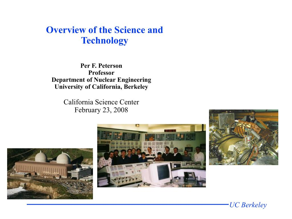 overview of the science and technology l.