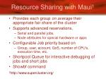 resource sharing with maui 1