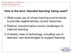 how is the term blended learning being used