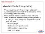 mixed methods triangulation