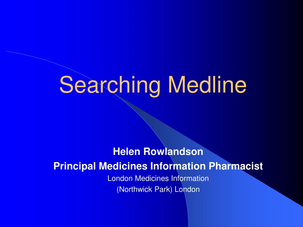 searching medline l.